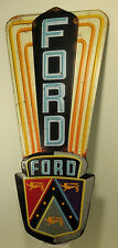 FORD LOGO Embossed Metal Tin Sign Vintage Style Man Cave Decor Emblem Garage