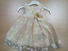 NEW baby girls GOLD PARTY DRESS  SIZES 0-3 6-9 9-12 OR 18 -23 MTHS