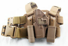 4in1 Tactical Drop Leg Thigh Rig Holster With 2 Pouches for Glock Left Hand G17