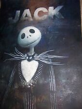 A nightmare before Christmas Jack Skellington 28x16 inches painting Tim Burton
