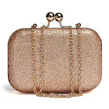 Women Lady Sparkling Glitter Chain Clutch Evening Party Shoulder Handbag Purse