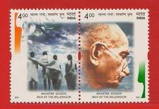 [1855] India Se-tenant Mahatma Gandhi Man of the Millenium 2001 MNH