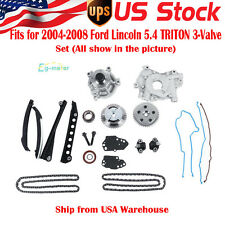 Timing Chain Kit Cam Phaser Oil Water Pump Lincoln 5.4 TRITON 3-Valve 04-08 Ford