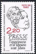 Francia 1981 periódico/news/Impresión/comunicación/business/industria 1v (n43379)