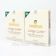 6p Unidus CLIMAX CONTROL Condom LONG LOVE Prolong Sex Lubricant Thin condoms