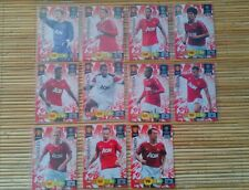 9 cards Lot Soccer Card Manchester United Adrenalyn XL Champions 2011