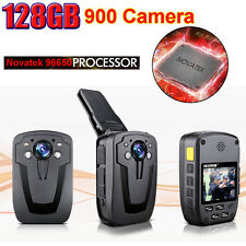 128G D900 NTK96650 Chip 1080P Body Personal Police Security Camera Night Vision