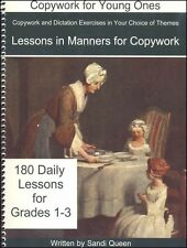 Queen Homeschool Supplies - Lessons in Manners for Copywork NEW