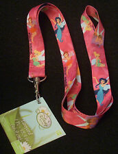 "Disney Pin Trading Lanyard 18.5"" Length Tink Tinkerbell & Fairy Friends"