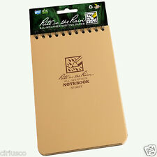 """Rite in the Rain"" All-Weather Outdoors Coyote Tan 4""x6"" Top Spiral Notebook"