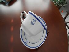 Navy Cup Saucer WWII USS Pine Island Ship Newspaper The Pine Knott Fouled Anchor