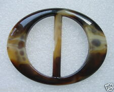 "LU01 Tortoise Lucite Belt Buckle ""OVAL"" for Belt Strap Buckles/Accessory"