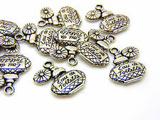 10 Pcs -  20mm Tibetan Silver Perfume Bottle Charms Ladies Jewellery Beading R78