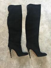Jimmy Choo Black Suede Over The Knee Boots UK6