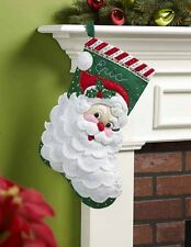 "Stocking Kit ""Jolly Saint Nick"" Bucilla 18"" Christmas Felt sequins Santa NEW"