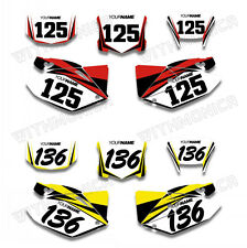 For HONDA CRF250X 04 05 06 07 08 2009-2012 Custom Number Plate Background Decals