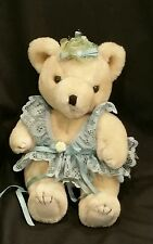 "10""JOINTED TEDDY BEAR LACE HANDMADE CLOTHES PLUSH STUFFED ANIMAL COLLECTIBLE toy"