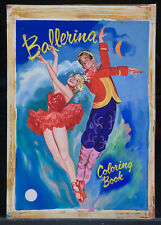 "JOHN NORTHCROSS 1953 Original Cover Art - ""Ballerina Coloring Book"" (A129)"
