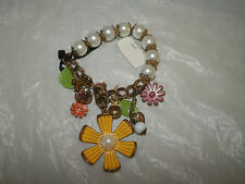 Womens bracelet Betsey Johnson Bracelet Betsey Johnson Charm Bracelet New