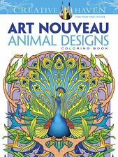 Coloring Books For Adults Art Animals Design Patterns Painting -Stress Relaxing