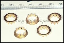 5 x Brass Dial Grommets 10mm Clocks Round Key Hole Repair Spares Parts Servicing