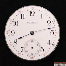 1893 Waltham 16s 7J Grade 610 Pendant Set Pocket Watch Movement For Repair Parts