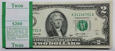 Pack of (100) 2013 Brand New GEM UNC $2 Dollar Bills from DALLAS District