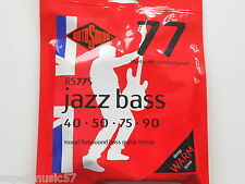 Rotosound RS77S Jazz Bass Guitar Strings Monel Flatwound Short Scale Std Gauge