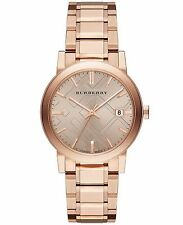 NEW AUTHENTIC Burberry BU9034 Rose Dial Rose Gold-Tone Unisex Watch USA SELLER