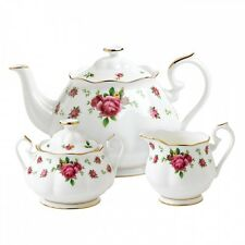 NEW COUNTRY ROSES WHITE 3-PIECE TEA SET ROYAL ALBERT NEW BONUS TEA CUP SAUCER