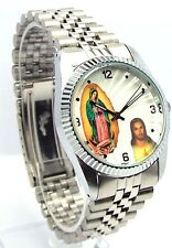 Swanson Men Religious Jesus -White Dial, Silver-tone  Dress Watch