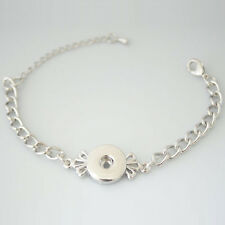Single Snap Lobster Clasp Bracelet For Snap it Button Charms