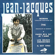 """7"""" FRENCH EP 45 TOURS JEAN-JACQUES """"Maman +3"""" 1969 EUROVISION HERVE ROY"""
