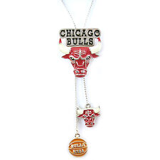 NBA Necklace Chicago Bulls Silver Jewelry