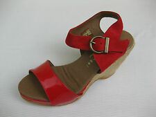 Eric Michael Womens Shoes NEW $140 Nemo Red Patent Nubuc Jute Sandal 40 9