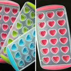DIY 18 Hearts Cake Mold Soap Flexible Mould Candy Chocolate Cake Ice Cube O