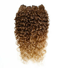 "Kinky Curly Afro Hair Weave - 22"" - Dark Caramel and Dark Natural Blonde Ombre"