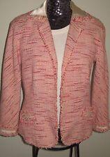 Lida Baday Open Front Boucle Jacket-Size 12