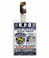 Resident Evil ID Badge STARS Police Alpha Team Leader Cosplay Prop Comic Con