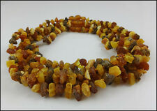 Lot of 5   Genuine  Raw Baltic Amber Baby Necklaces