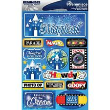 REMINISCE MAGICAL DISNEY VACATION TRAVEL DIMENSIONAL 3D SCRAPBOOK STICKERS