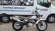 Suzuki RV125 Van Van  2003 - 2016 Stainless Round ROAD LEGAL / Race MTC Exhaust
