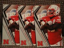 Ziare Anderson Three (3) Nebraska Huskers 2014 Schedule Cards Linebacker LB