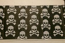 Plastic Wipe clean Tablecloth, Skull & Crossbones Pirate Birthday Party Reusable