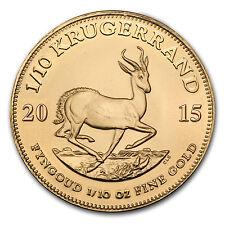 2015 South Africa 1/10 oz Gold Krugerrand - Sku # 84901