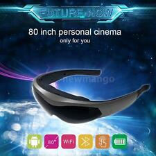 80Inch Android Quad Core Smart Video Glasses WiFi Bluetooth Virtual Touch Screen