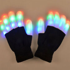 Multi_Color LED Flashing Gloves Light Up Party Dance Rave Glare Gloves Party Fun