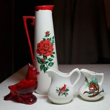 lot old creamer pottery ceramic creamer pitcher flower vase cocktail pitcher &