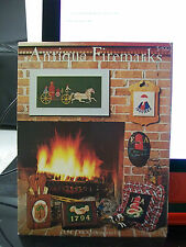 ANTIQUE FIREMARKS CROSS STITCH PATTERNS JUNE GRIGG DESIGNS INC. FIREFIGTHER +