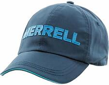 Merrell Classic Cotton Baseball Cap, OSFA Blue/Brown - NWT!